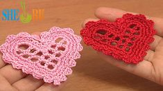 Crochet Mesh Heart Tutorial 11 Valentine's Day, Wedding Ornament
