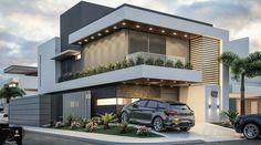 Modern home design Bungalow House Design, House Front Design, Modern House Design, Modern House Facades, Modern House Plans, Facade Architecture, Residential Architecture, Modern Exterior, Exterior Design