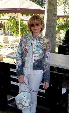 Пиджаки, жакеты ручной работы. Ярмарка Мастеров - ручная работа. Купить Жакет Les fleurs- войлок. Handmade. Жакет из войлока