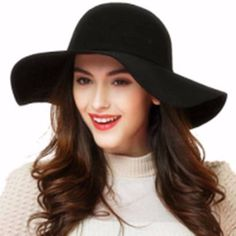 64b95b3b90a Fashion Vintage Fedoras Hats for Women 2017 Cotton Bowler Jazz Top Cap Felt Wide  Brim Floppy Sun Beach Church Cap Gorros
