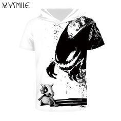 Joyonly 2017 Summer Skull Dinosaur Monster Print T Shirt Men Women Short Sleeve Tops Funny Animal T-Shirt Hooded Tshirts Tee 3d T Shirts, Cheap T Shirts, Casual T Shirts, Casual Tops, T Shirts For Women, Men Casual, Impression 3d, Mode 3d, Summer Outfits Men