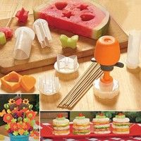 Buy Pop Chef Kitchen Fruit Cutter Maker Shaper Cake Twister Slicer Home Food Decorator Tool Hot Seen On TV 6 Shape at Wish - Shopping Made Fun Edible Creations, Cake Shapes, Snacks Für Party, Party Treats, Fruit Arrangements, Food Decoration, Fruit Decorations, Home Food, Chef Recipes