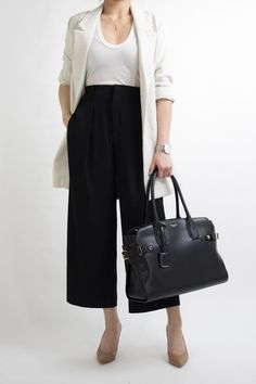 Culottes Outfit Work Office Wear for Women: 1 MONTH OF WORK OFFICE OUTFIT IDEAS MISS LOUIE