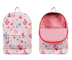 I adore this Herschel Supply Co backpack in new ruby khaki floral pattern