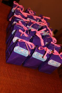 Doc McStuffins favor bags, personalized with Doc McStuffins bandaid/each child's name