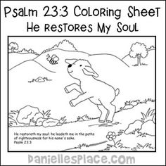 Coloring Pages for Kids by Mr Adron Printable Psalm 231 The Lo