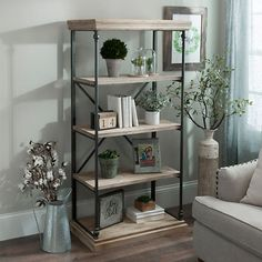 10 Connected Tricks: Master Bedroom Remodel The Doors rustic bedroom remodel mud rooms.Basement Bedroom Remodel Tips teenage bedroom remodel room decor. Modern Farmhouse Decor, Modern Decor, Farmhouse Ideas, Farmhouse Chic, 4 Tier Shelf, Reclaimed Wood Shelves, Living Room Decor, Family Room, Shabby