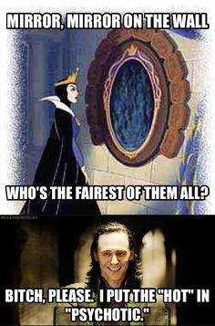 Loki ain't playin', Evil Queen.
