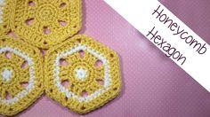 Honeycomb Hexagon afghan Block - YouTube