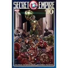 Secret Empire (2017) #10 (of 10) Written by Nick Spencer Art by Steve McNiven Cover by Mark Brooks Can there be any redemption for Captain America as the SECRET EMPIRE starts to crumble?