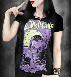 Camiseta Chica MC Dracula Purple