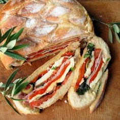 Pan Bagnat ~ A French Picnic Sandwich: This wonderfully sumptuous French Picnic Sandwich can be made WELL in advance