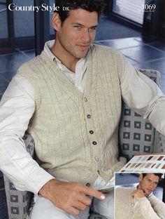 Mens Knitting Pattern Mens v Neck Cardigan Mens by Hobohooks