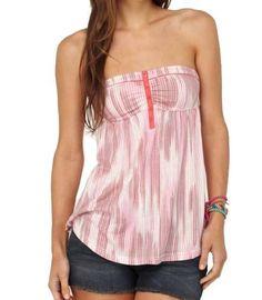 "Roxy Women's ""AHOY"" Pink Striped Blouse 467378-STG Roxy. $27.97"