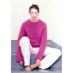 FREE Alafoss Lope Pullover knitting pattern on Vogue Knitting