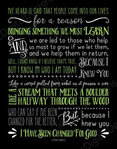Printable Wicked Broadway Musical Lyrics For by ljcDigitalDesigns