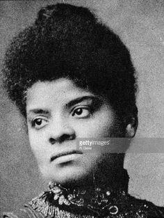 Portrait of American journalist, suffragist and Progressive activist Ida Wells Barnett (1862 - 1931), 1890s.
