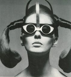 """Mrs. Tony Curtis Wearing """"Eyeeye"""" Sunglasses by Mario Marenco for Vogue, 1967, photographed by American photographer Bert Stern (b.1929). via Featherstone Vintage"""