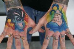 Freakazoid and the Tick, two of the greatest superheroes of the '90s: | 21 Epically Nostalgic �01990s Cartoons As Tattoos