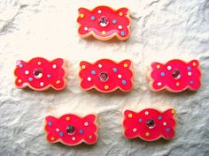 Pink Candy Kawaii Cabochons 6pcs 23mm by DecoSweets on Etsy, $2.75