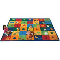 Carpets for Kids Printed Learning Blocks Area Rug & Reviews | Wayfair