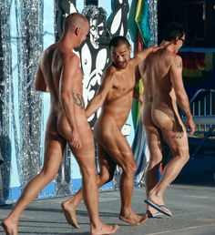 August 13, 2016 Nude Parade Naked marchers Visit my text-photo blog: Guys Without Boxers: Bare With Pride