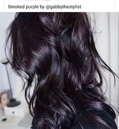 In love with smoked purple hair! Hair Color For Black Hair, Cool Hair Color, Subtle Purple Hair, Plum Hair, Brunette Hair, Great Hair, Mi Long, Hair Today, Fall Hair