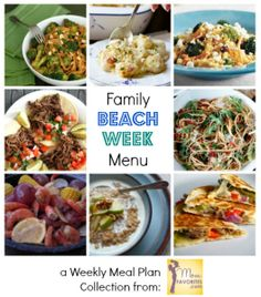 Meal planning on vacation part 2 save money eat healthy stay beach week weekly meal plan collection for summer travels barbacoa beef recipe from the forumfinder Choice Image