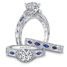 LOVE THIS!!! The only way I would put color in my ring. Sapphires.