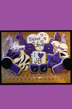 Justin Bieber sugar cookies