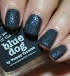 piCture pOlish Blue Dog