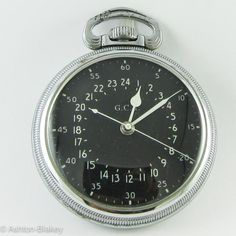 Hamilton 4992B 16 size 22 jewel WW2 military aircraft watch with 24 hour black dial marked GCT(Greenwich Civil Time). This watch is in excellent condition and the 22 jewel well running movement made f