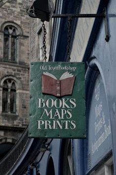 Old Town Bookshop , Edinburgh . - : Old Town Bookshop , Edinburgh . I Love Books, Books To Read, Pub Signs, Book Aesthetic, Store Signs, Book Nooks, Library Books, Reading, Old Town