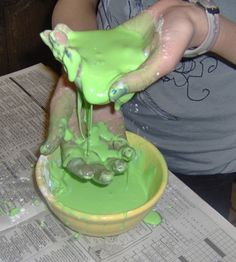 Oobleck! great science idea.