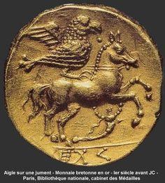 Eagle on a mare Golden breton coin, 1st century AD Paris, Bibliothèque National, Cabinet des Médailles.