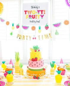 Two-TT Fruity, 2 year Tropical birthday party inspiration