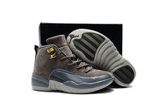 bee27677bd5ba1 Youth Basketball Shoes 2018 Newest Kids Air Jordan 12 XII Dark Grey Jordans  Sneakers