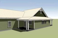 Southern Cottage for a Narrow Lot - 15043NC   Architectural Designs - House Plans Garage House Plans, House Floor Plans, Southern Cottage, Container Buildings, Paper Houses, My Dream Home, Master Suite, How To Plan, Architecture
