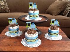 Trains Diaper Cakes Baby Shower Centerpiece other styles, colors and sizes available