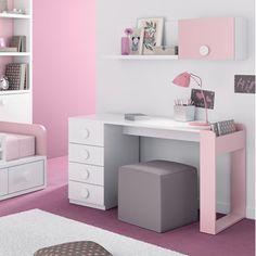 Pink Escritorio para tener esta deco en mi casa o cuarto no pintaria la pared de color ROSA si no que un rosa mucho mas claro haci no es fuerte