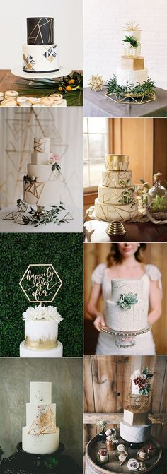 Chic Geometric Wedding Ideas for 2018 Trends - Page 5 of 6 - Oh Best Day Ever Moon Wedding, Gold Wedding Theme, Themed Wedding Cakes, Wedding Cake Rustic, 2018 Wedding Trends, Geometric Wedding, Wedding Honeymoons, Wedding Cake Inspiration, Trendy Wedding