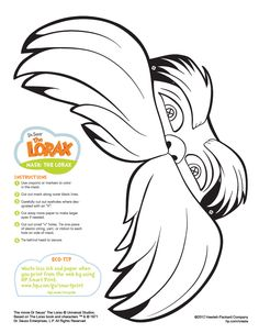 The Lorax Mask Printable