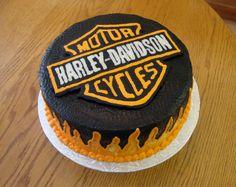 Harley Davidson Birthday Cake Must make for dad