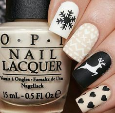 Deer Stencils for Nails, Christmas Nail Stickers, Nail Art, Nail Vinyls – Makeup Christmas Nail Stickers, Cute Christmas Nails, Xmas Nails, Christmas Nail Designs, Holiday Nails, Christmas Deer, Christmas Manicure, Xmas Nail Art, Winter Nail Designs
