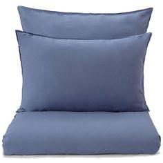 Baumwoll-Bettwäsche Luz, Blau | URBANARA Blue Palette, Midnight Blue, Bed Pillows, Pillow Cases, Portugal, Home, Summer Blues, Products, Lights