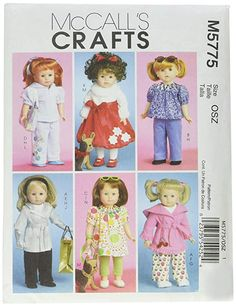 18 Inch Doll Clothes Pattern Fits Dolls Sewing Pattern Wardrobe for all occasions Pjs Coat Christmas UNCUT, McCalls Pattern Craft 4485 by LanetzLiving on Etsy Ag Doll Clothes, Doll Clothes Patterns, Doll Patterns, Clothing Patterns, Vogue Sewing Patterns, Mccalls Patterns, Simplicity Sewing Patterns, Leggings, Doll Crafts