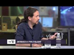Tensa entrevista Pablo Iglesias Vía V 2015 VTelevisión