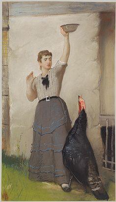 Feeding the Turkey, ca. 1872–80.  Eastman Johnson (American, 1824–1906),  Timeline of Art History | The Metropolitan Museum of Art