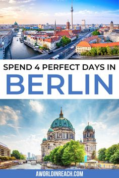 Ready to spend 4 days in Berlin, Germany? Check out this perfect guide to your first visit to Berlin, including a day-by-day itinerary and travel tips! Visit Germany, Berlin Germany, Berlin Berlin, Germany Europe, Europe Destinations, Europe Travel Guide, Berlin Travel, Germany Travel, Germany Photography