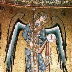 Unknown Artist. St Michael the Archangel. mid-12th century. Duomo di Cefalù. Cefalù (Province of Palermo. Sicilian Autonomous Region) ITALY